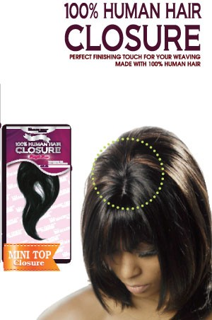 100% Human Hair  -  Mini Top Closure 8""