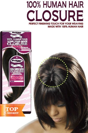 100% Human Hair - Top Closure 9""