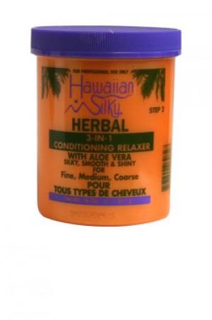 [Hawaiian Silky-box#31] Herbal 3-in-1 Relaxer Jar (18oz)