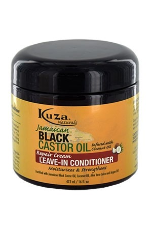 [Kuza-box#44] Black Castor Oil Leave In Conditioner (16oz)