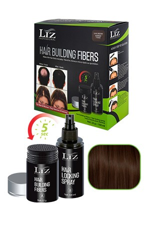 [LIZ Professional-box#5] Hair Building Fibers & Locking Spray[Black]