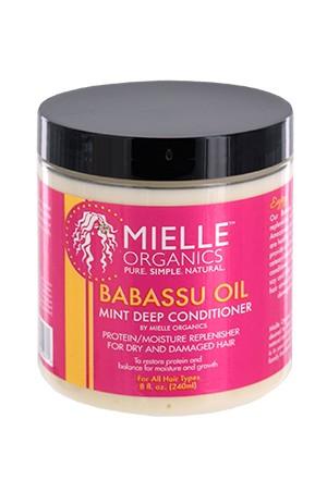 [Mielle Organics-box#1] Babassu Oil Mint Deep Conditioner (8oz)