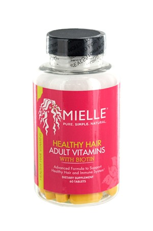 [Mielle Organics-box#3] Healthy Hair Adult Vitamins (60 Tablets)