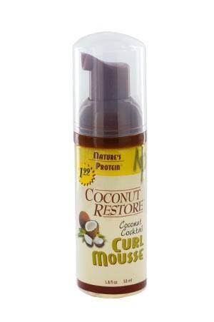 [Nature's Protein-box#16] Coconut Restore Curl Mousse (1.8 oz)