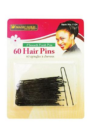 """[Magic Gold-#1104] Hair Pins 2"""" (#Black) -dz"""