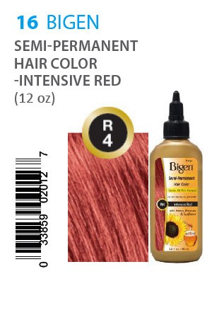 [Bigen-box#16] Semi-Permanent Hair Color #R4 Intensive Red