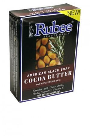 [Rubee-box#12] Cocoa Butter American Black Soap (3.5oz)
