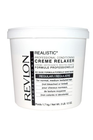 [Revlon-box#5] Realistic - Professional Conditioning Creme Relaxer-Regular(3LB)