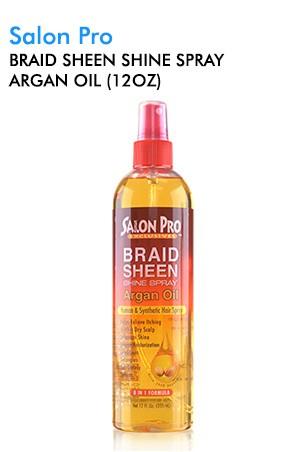 [Salon Pro-box#68] Braid Sheen Shine Spray Argan Oil (12oz)
