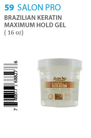 [Salon Pro-box#59] Brazilian Keratin Maximum Hold Gel (16oz)