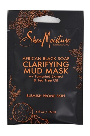 [Shea Moisture-BOX#94] African Black Soap Mud Mask_Blemish Prone Skin [0.5 oz/12pk /ds]-ds