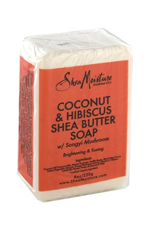 [Shea Moisture-BOX#75] Coconut&Hibiscus Shea Butter Soap (8oz)