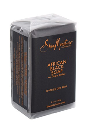 [Shea Moisture-BOX#76] African Black Soap (8oz)