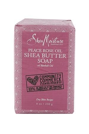 [Shea Moisture-box#117] Peace Rose Oil Shea Butter Soap (8 oz)