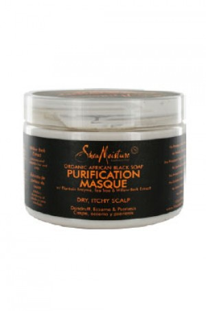 [Shea Moisture-box#18] Africa Black Soap Purification Mask (12oz)