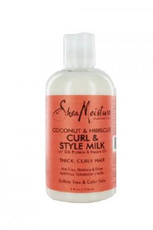 [Shea Moisture-box#32] Coconut & Hibiscus Curl & Style Milk (8oz)
