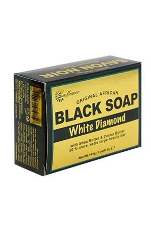 [Sunflower-box#55] Black Soap (5 oz) - White Diamond
