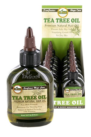 [Sunflower-box#40] Diffel Premium Natural Hair Oil (2.5oz)-Tea Tree