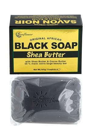 [Sunflower-box#41] Original African Black Soap - Shea Butter (5 oz)