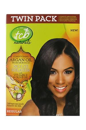 [Tcb-box#14] Natural No Lye Relaxer Kit w/ Olive Oil(2App)-Regular