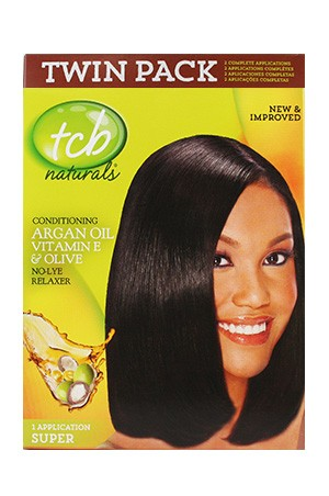 [Tcb-box#15] Natural No Lye Relaxer Kit w/ Olive Oil(2App)-Super