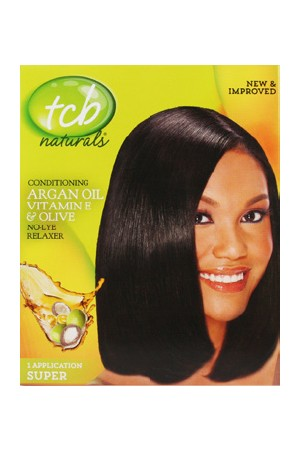 [Tcb-box#2] Natural No Lye Relaxer Kit w/ Olive Oil(1App)-Super