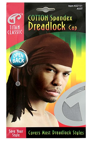 [Titan#22151] Cotton Spandex Dreadlock Open Back -Asst -dz