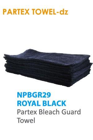 Partex Beach Guard Towel #NPBGR29 Royal Black -dz