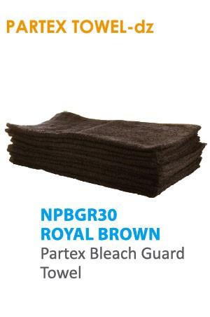 Partex Beach Guard Towel #NPBGR30 Royal Brown -dz