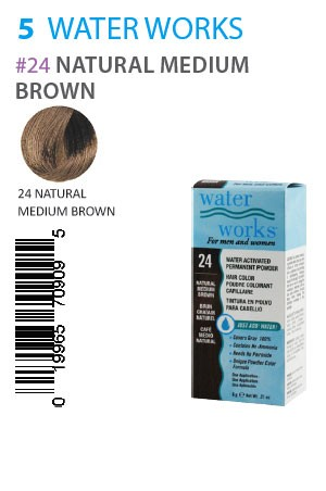 [Water Works-box#5] #24 Natural Medium Brown (0.21oz)