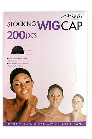 [Magic Collection #01401BLA] Magic Stocking Wig Cap(200pcs/box)-dz
