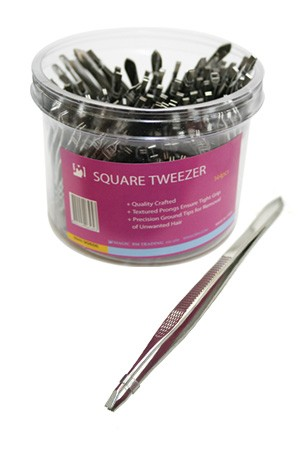 [Magic Gold #90656] Square Tip Tweezer (144pc/jar) -jar