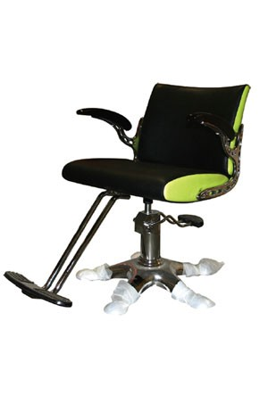 SALON CHAIR Y136 Black & Lime