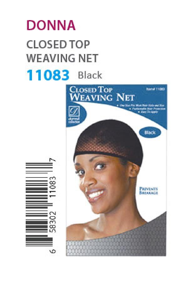 Donna 11083 Closed Top Weaving Cap Black Dz Wigweaveliner