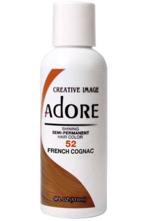 Adore Box1 Semi Permanent Hair Color 4 Oz 52 French Cognac
