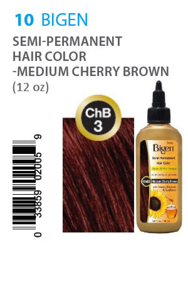 Bigen Box10 Semi Permanent Hair Color Chb3 Medium Cherry Brown
