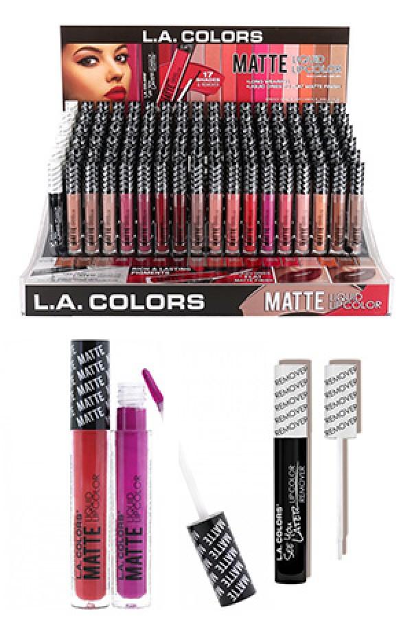 [L.A.Colors] Matte Liquid Lipcolor (18 kinds/12 ea each) #CAD78.1 - L.A. Colors - Make up / Manicure - MAKE UP / MANICURE / HAIR COLOR
