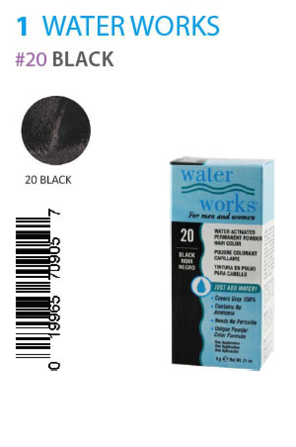 Water Works Box1 20 Black 021oz Water Works Hair Color